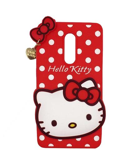 TBZ Cute Hello Kitty Soft Rubber Silicone Back Case Cover for Xiaomi Redmi Note 4 -Red