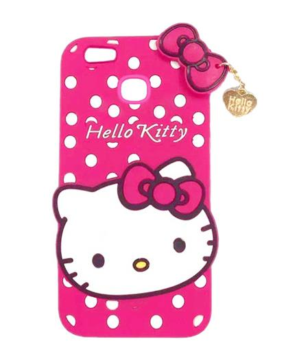 TBZ Cute Hello Kitty Soft Rubber Silicone Back Case Cover  for Xiaomi Redmi A1 -Pink