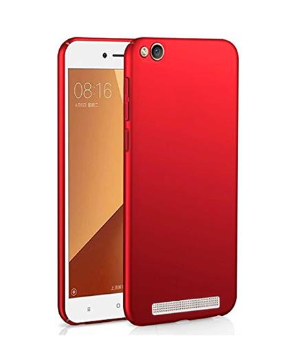 TBZ All Sides Protection Hard Back Case Cover for Xiaomi Redmi 5A  - Red