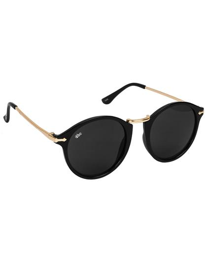 TBZ Black Rising Star Round Shape Sunglasses
