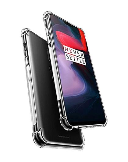 TBZ Transparent Bumper Corner TPU Case Cover for OnePlus 6