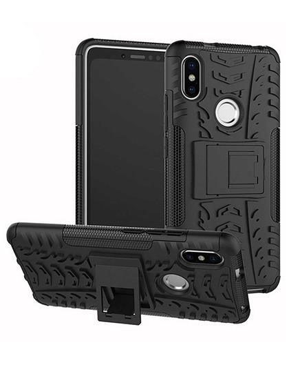 TBZ Cover for Xiaomi Redmi Y2, Tough Heavy Duty Shockproof Armor Defender Dual Protection Layer Hybrid Kickstand Back Case Cover