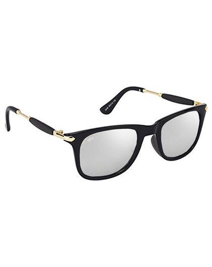 TBZ Silver Murcury Rubber Stick Mercury Square Wayfarer Sunglasses
