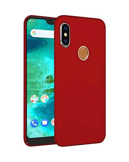TBZ All Sides Protection Hard Back Case Cover for Xiaomi Redmi 6 Pro  -Red