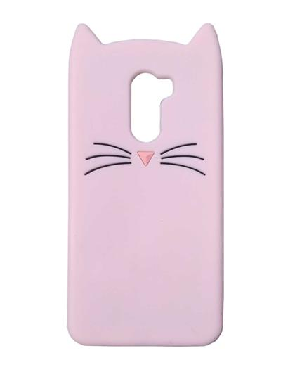 TBZ Cat Cartoon Soft Rubber Silicone Back Case Cover for Poco F1 -Pink