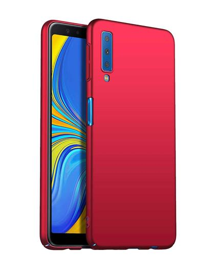 Samsung Galaxy A7 2018 - All Sides Protection Hard Back Case Cover for Samsung Galaxy A7 (2018) -Red