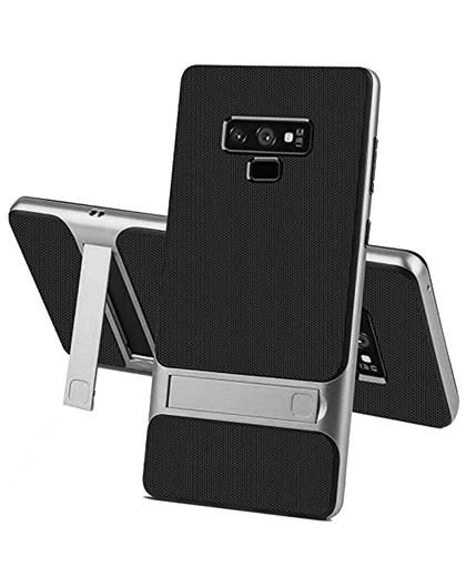 Samsung Galaxy Note 9 - Dual Layer Armor PC Frame TPU Shock Proof Silicone Kickstand Back Cover Case for Samsung Galaxy Note 9 -Grey