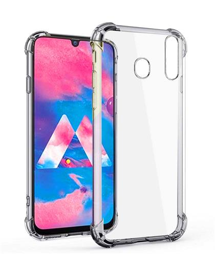 Samsung Galaxy M30 Case Back Cover [Drop Defense Series] Full Body Protective Soft Phone Mobile Cover with Screen Camera Protection Bumper Corner for Samsung M30 (2019) (Transparent) by RRTBZ
