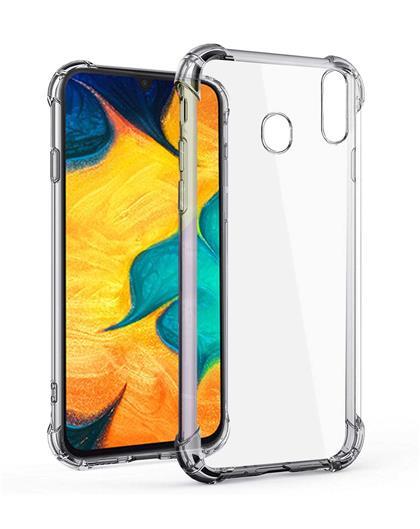 RRTBZ Back Cover Case for Samsung Galaxy A30 Soft Silicone TPU Flexible Back Cover for Samsung Galaxy A30 (Transparent)