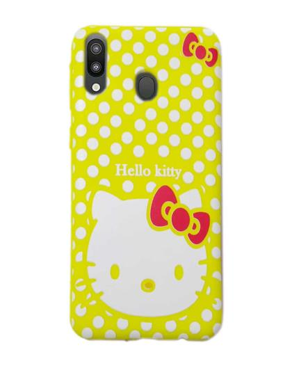 RRTBZ Hello Kitty Print Soft Silicone TPU Back Case Cover for Samsung Galaxy M20  -Yellow
