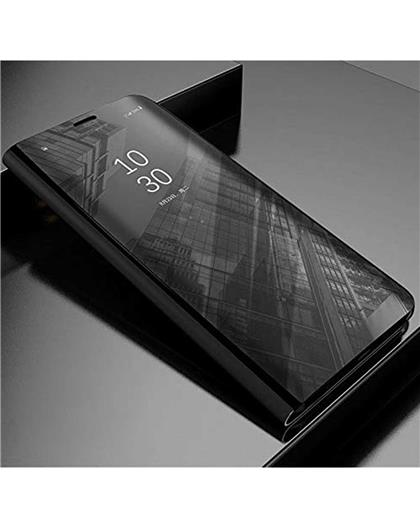 Flip Case for Honor 10 Lite Luxury Mirror Clear View Magnetic Stand Flip Folio Case for Huawei Honor 10 Lite -Black