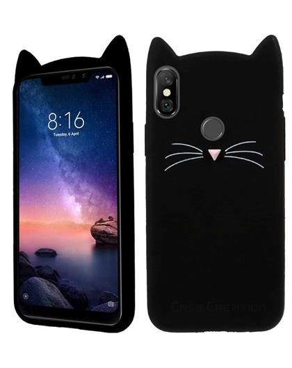 Case for Samsung Galaxy M20 Cat Cartoon Soft Rubber Silicone Back Case Cover for Samsung Galaxy M20 -Black