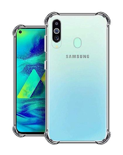 RRTBZ Back Cover Case for Samsung Galaxy M40 Soft Silicone TPU Flexible Back Cover for Samsung Galaxy M40 (Transparent)