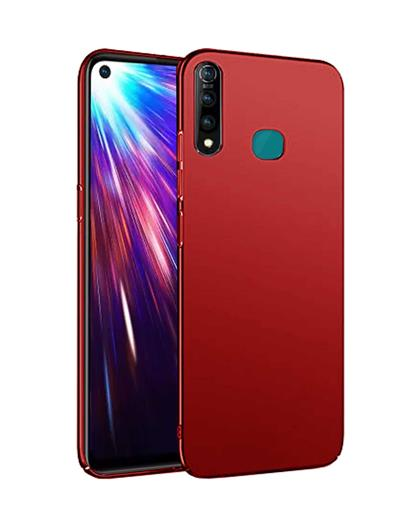 RRTBZ 4 Cut Protection Hard Back Case Cover for Vivo Z1Pro -Red