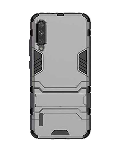 Cover for Xiaomi Mi A3 Heavy Duty Shockproof Dual Protection Layer Kickstand Back Cover Case for Xiaomi Mi A3 -Grey
