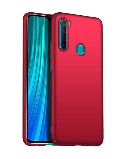 RRTBZ 4 Cut Protection Hard Back Case Cover for Xiaomi Redmi Note 8 -Red