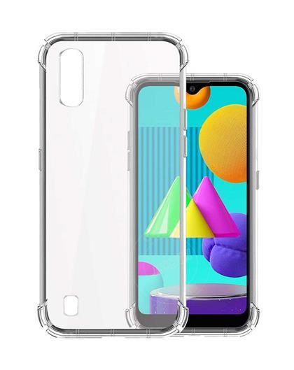 TPU Cover for Samsung Galaxy M01 Transparent Bumper Corner Soft Silicone TPU Flexible Back Cover for Samsung Galaxy M01