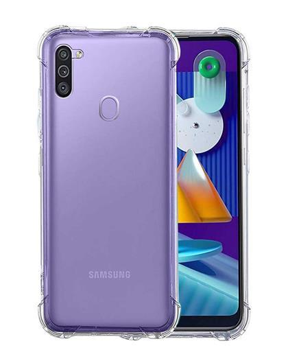 TPU Cover for Samsung Galaxy M11 / A11 Transparent Bumper Corner Soft Silicone TPU Flexible Back Cover for Samsung Galaxy M11 / A11