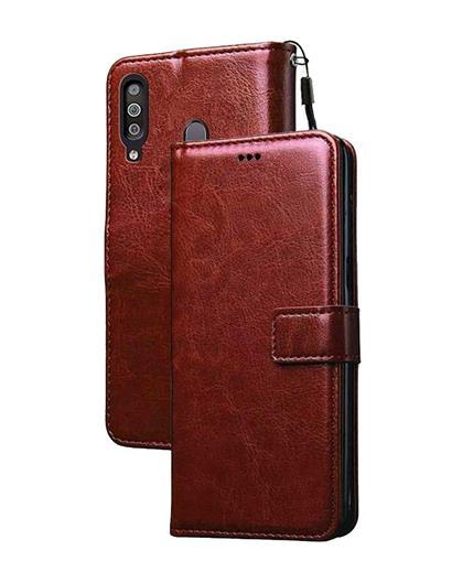 Flip Case for Redmi K30 / Poco X2 Leather Foldable Stand Diary Wallet Flip Cover Case for Redmi K30 / Poco X2 -Brown