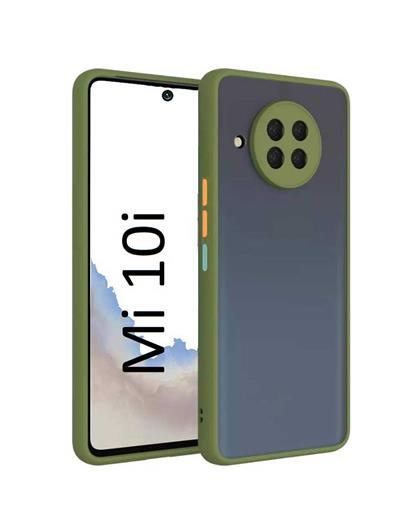 RRTBZ Case for Xiaomi Mi 10i Smoke Translucent Rubberized Camera Protection  Back Case Cover for Xiaomi Mi 10i 5G -Smoke Green