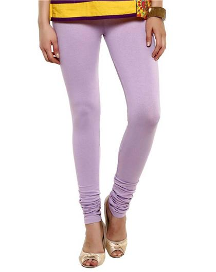TBZ Light Purple Viscose Lycra Women