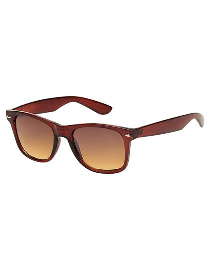 TBZ Brown Wayfarer Non Metal Sunglasses