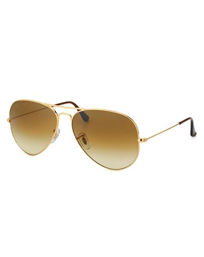 TBZ  Gradient Brown Aviator Golden Freame  Sunglasses