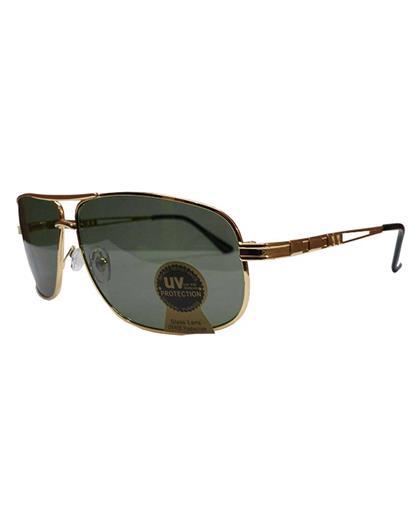 TBZ Black Aviator UV Protection Golden Freame Sunglasses