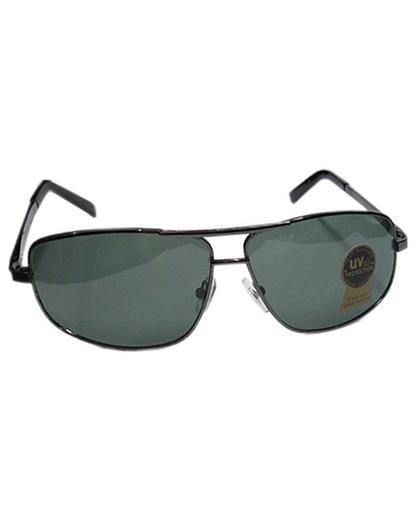 TBZ Black Aviator UV Protection Black Freame Sunglasses