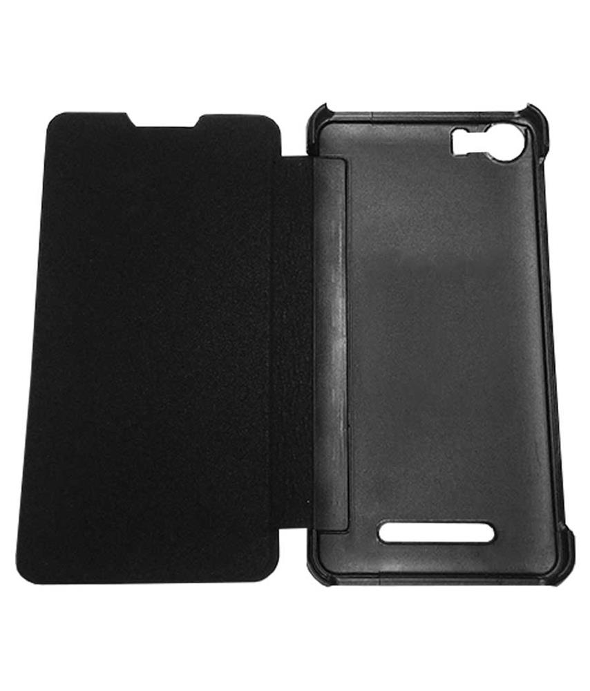 wholesale dealer 23782 2d015 TBZ Flip Cover Case for Micromax Canvas Spark 2 Plus Q350 -Black ...