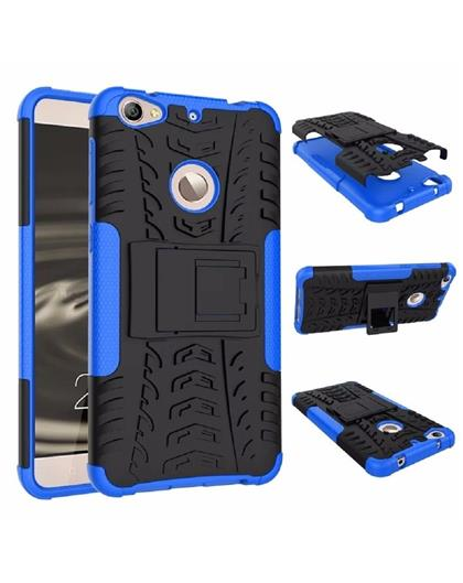 TBZ Hard Grip Rubberized Kickstand Back Cover Case for Letv Le 1s -Blue