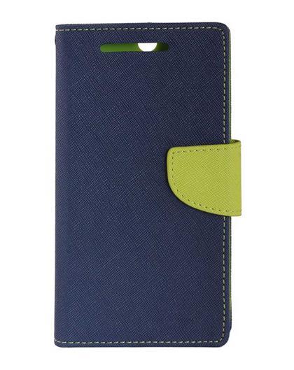 TBZ Diary Wallet Flip Cover Case for Xiaomi Redmi 3s Prime -Blue-Green