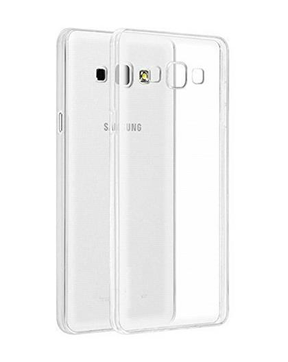 TBZ Transparent Silicon Soft TPU Slim Back Case Cover for Samsung Galaxy On8