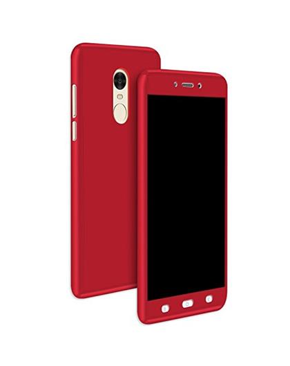 TBZ 360 Degree Protection Front & Back Case Cover for Motorola Moto G5 Plus -Red
