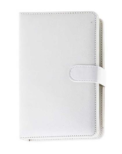 TBZ In-built Leather QWERTY Keyboard Case for 7inch Tablet With Micro OTG and Stylus - White