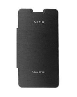 TBZ Black Premium Flip Cover Case for Intex Aqua Power