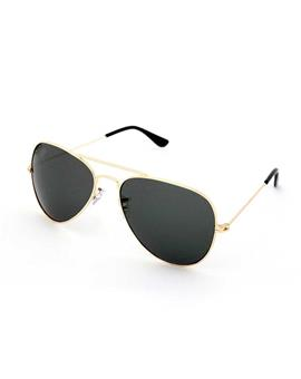 TBZ Black Aviator Golden Freame Sunglasses