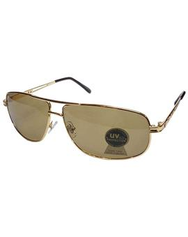 TBZ Brown Aviator UV Protection Golden Freame Sunglasses