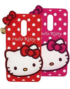 TBZ Cute Hello Kitty Soft Rubber Silicone Back Case Cover for Xiaomi Redmi Note 4