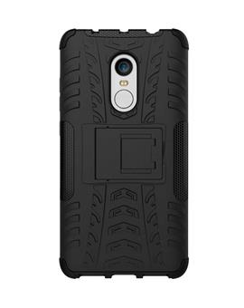 TBZ Hard Grip Rubberized Kickstand Back Cover Case for Xiaomi Redmi 4
