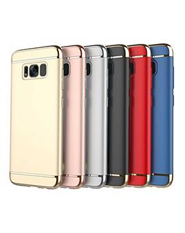 Cover for Samsung Galaxy S8 -Ultra-thin 3 in 1 Anti-Scratch Anti-fingerprint Shockproof Resist Cracking Electroplate Metal Texture Armor PC Hard Back Case Cover