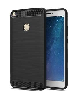 Xiaomi Mi Max 2 cover by TBZ Soft TPU Slim Back Case Cover  -Black