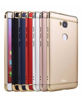 OPPO F5 Ultra-thin 3 in 1 Anti-Scratch Anti-fingerprint Shockproof Resist Cracking Electroplate Metal Texture Armor PC Hard Back Case Cover by TBZ