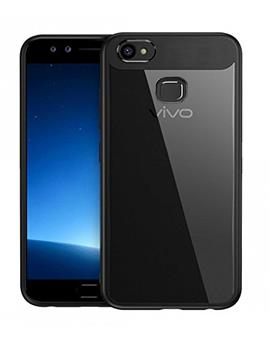 Vivo V7 Plus Transparent Hard Back with Soft Bumper Case Cover By TBZ