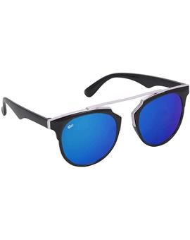 TBZ Blue Clubmaster Mercury Sunglasses