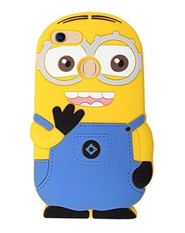TBZ Cartoon Minion Soft Rubber Silicone Back Case Cover for OPPO F5