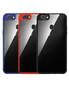 TBZ Transparent Hard Back with Soft Bumper Case Cover for OPPO F7