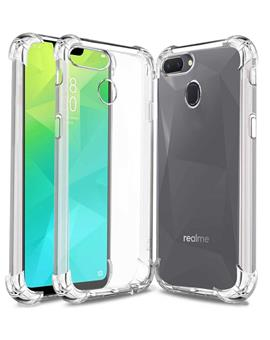 TBZ Transparent Bumper Corner TPU Case Cover for Oppo Realme 2