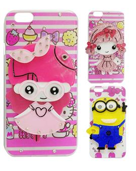 TBZ Cartoons with Mirror Back Cover Case for Apple iPhone 6