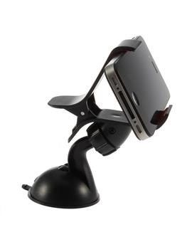 Universal Car Mount Cradle Holder Windshield Mobile/GPS Suction Holder Stand - Dual Clip Type Car Mobile Holder